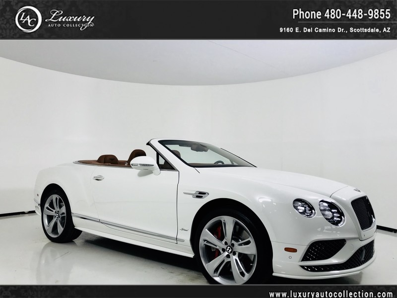 2016 Bentley Continental Gt Speed Convertible In Glacier Saddle